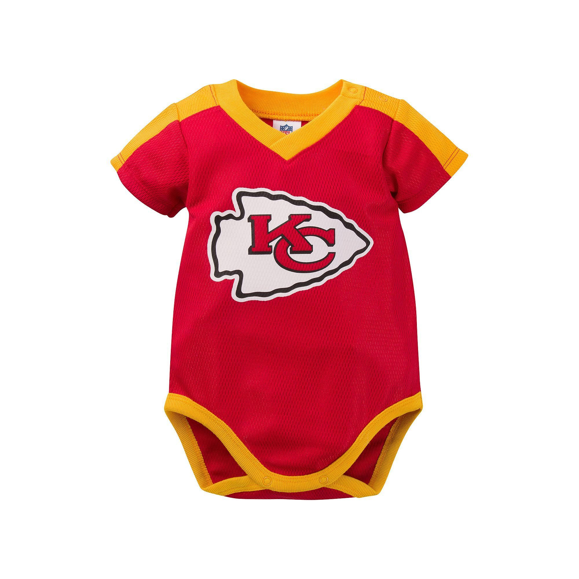 Baby Kansas City Chiefs Jersey Bodysuit Infant Boy s Size 18