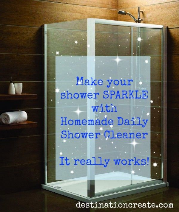 Homemade Shower Cleaner With Images Shower Cleaner Homemade