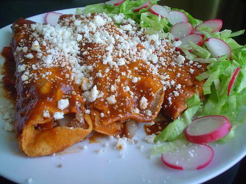 Delicias de la comida prehispanica: enchiladas estilo michoacan ...