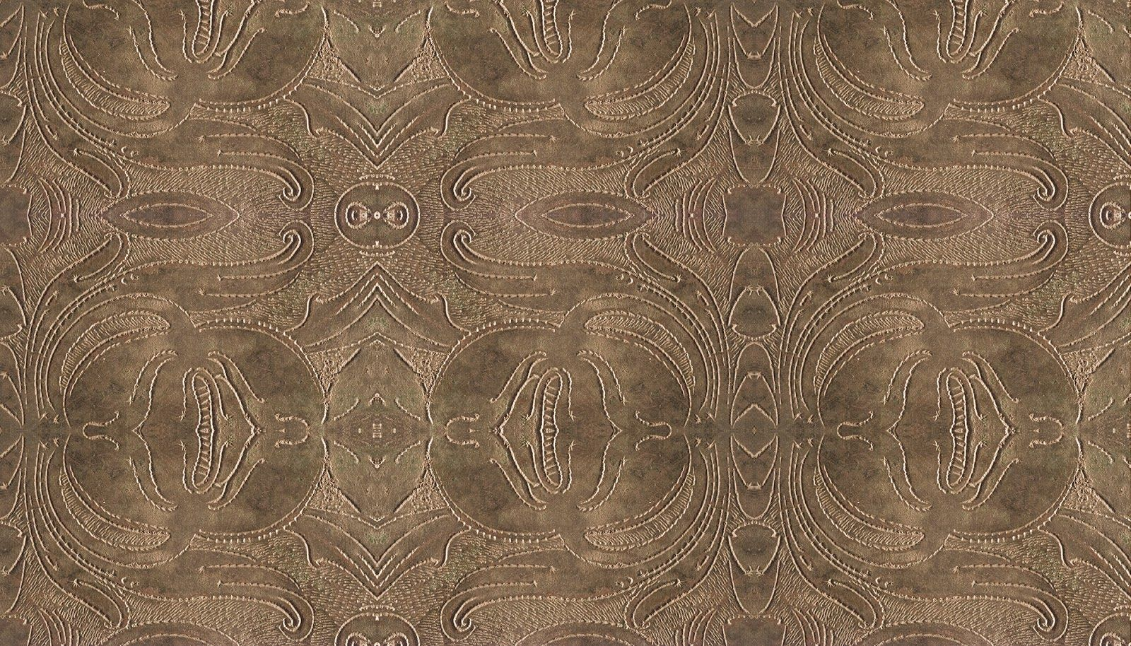 """Zoë Design: Day 59 ~ Wallpaper-a-day """"Tooled Leather"""" #WallCoverings #InteriorDesign"""