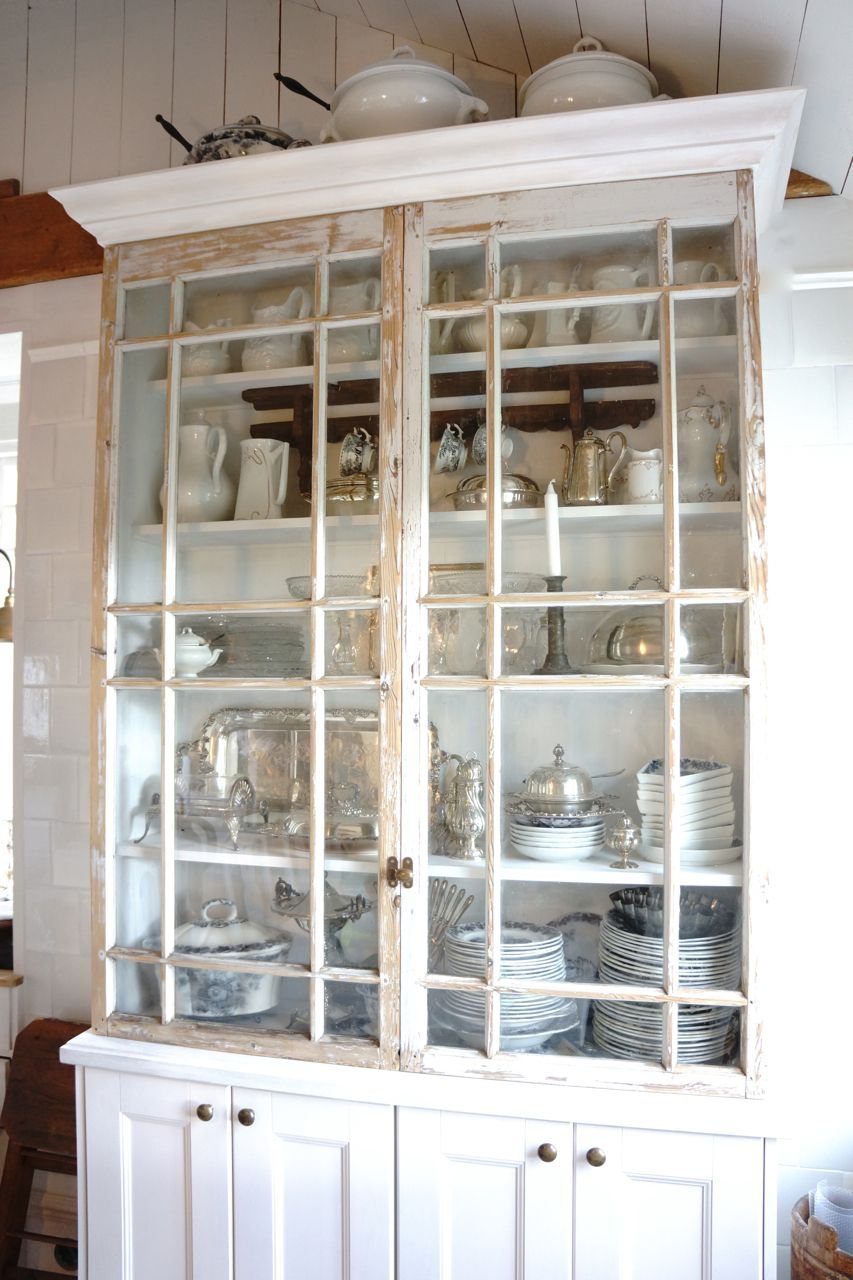 Make a cabinet starting with old windows   Furniture   Pinterest