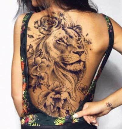 Pin Von Cynthia Arguijo Auf Tattoo Tattoo Rucken Tattoo Rucken Frau Lowen Tattoo Frau