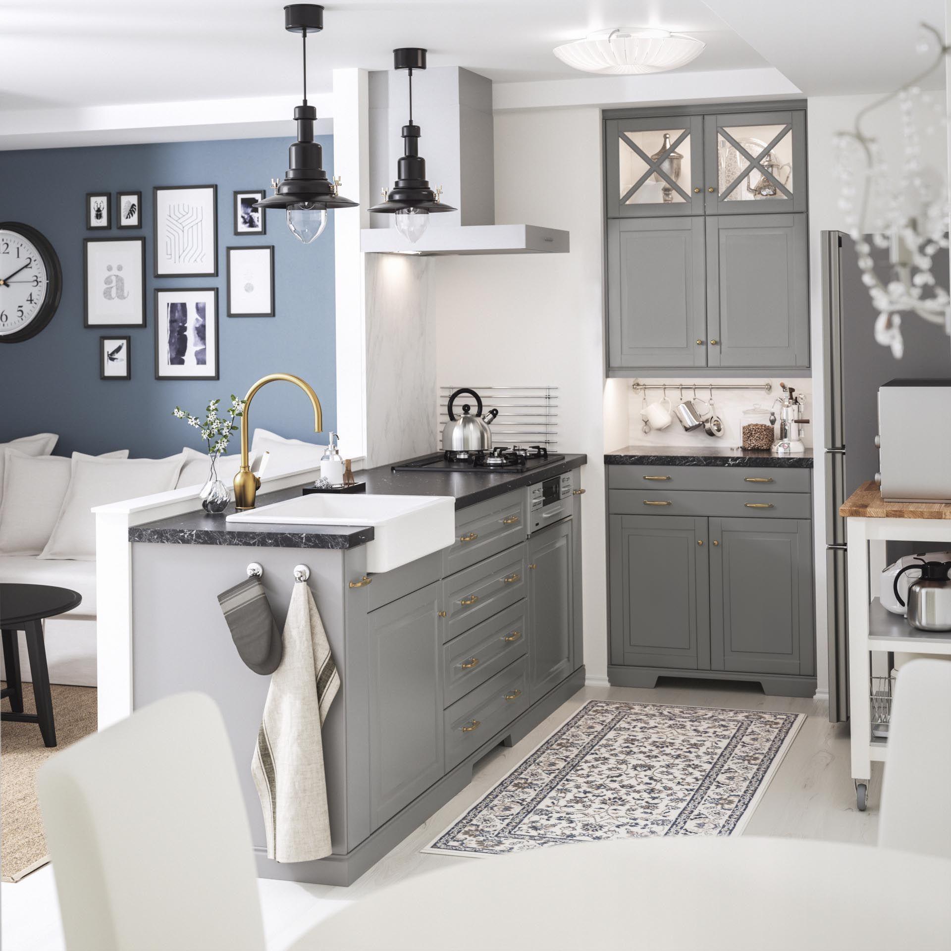 Bodbyn Front Voor Vaatwasser Grijs Ikea Interior Design Kitchen Rustic Kitchen Decor Inspiration Interior Design Kitchen