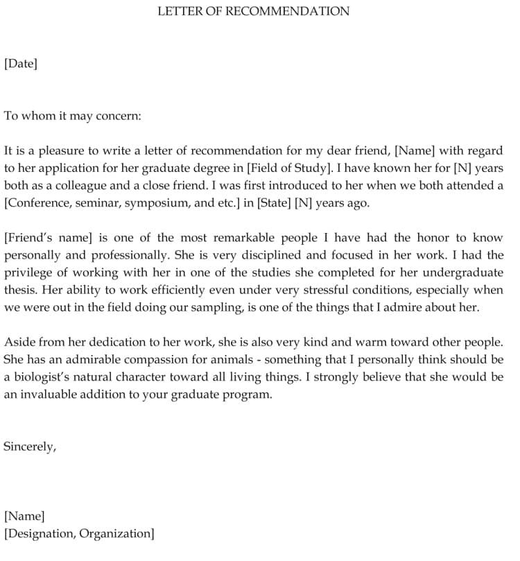 The Best Professional Letter Sample For