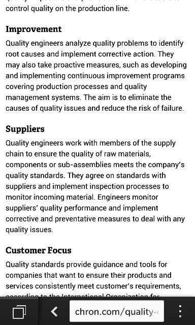 Job description quality engineer Pinterest Job description