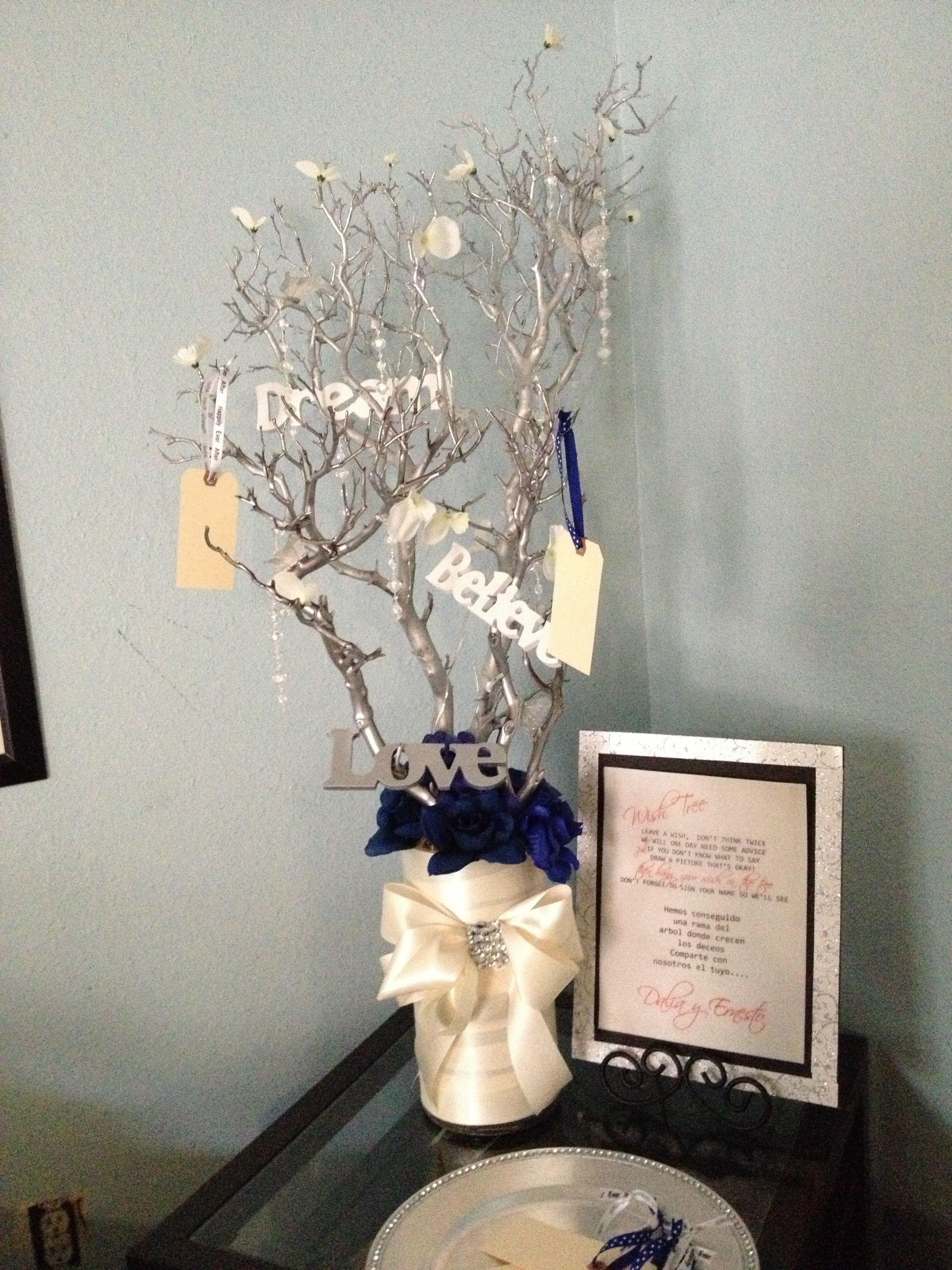 Wedding wish tree! Guest book. Arbol de firmas.