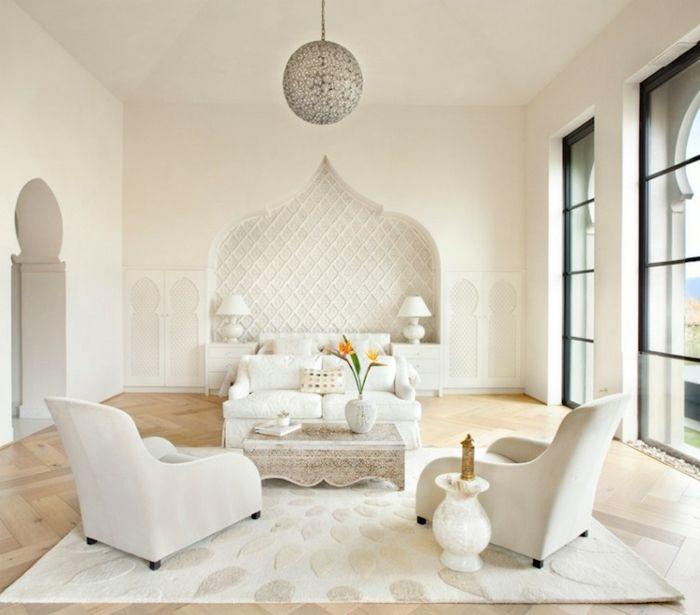 Orientalische Einrichtung moderne orientalische einrichtung weiße möbel mit schlichtem design
