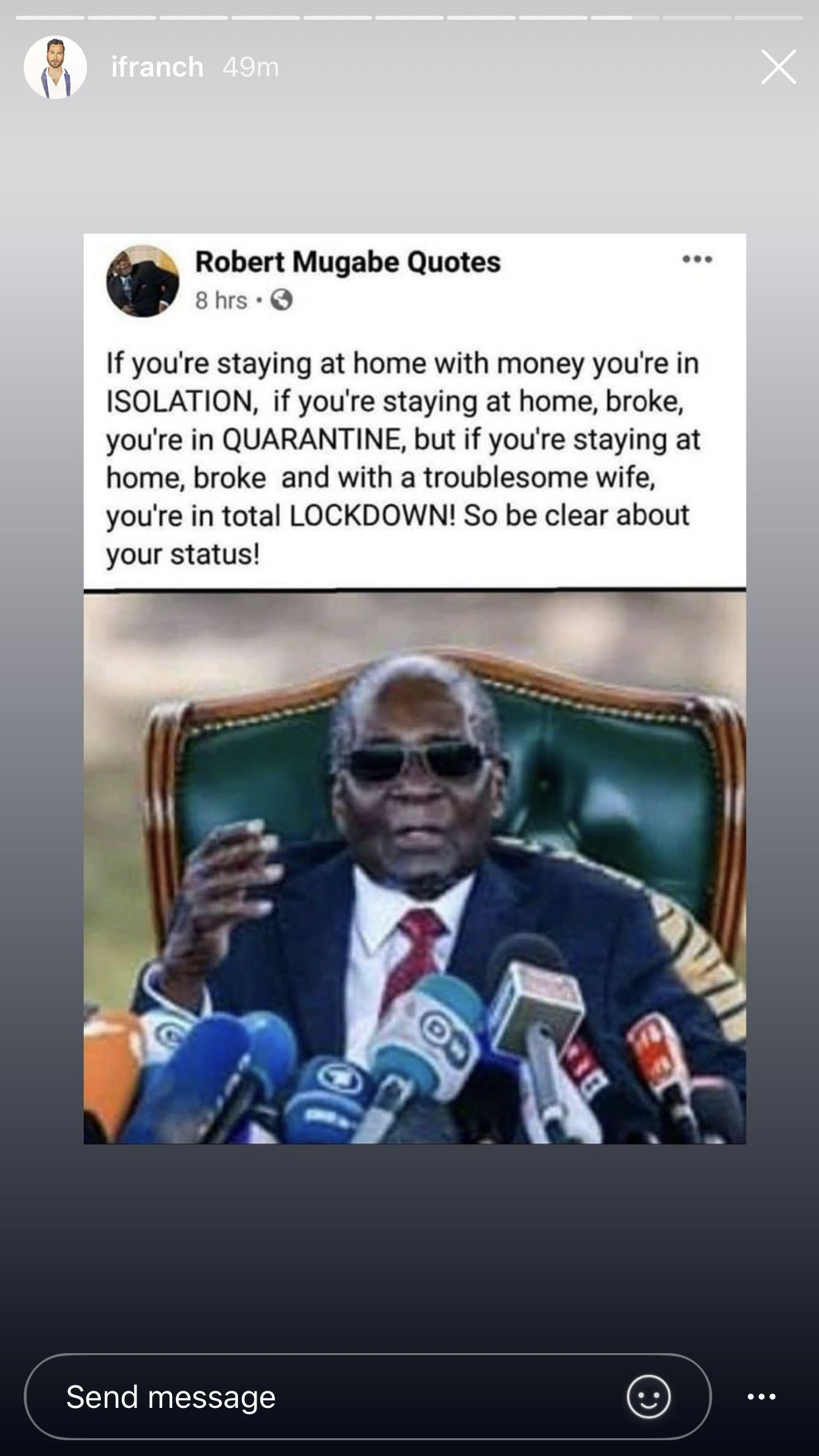 Pin By Taj Mahal On Too Funny Funny Quotes Life Quotes Mugabe Quotes