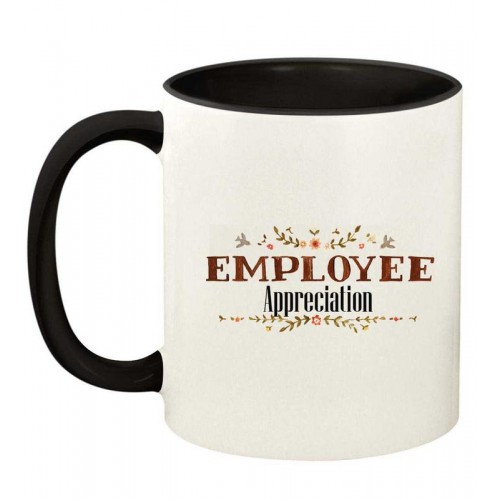 Printed Employee Appreciation Inside Black & Handle Coffee