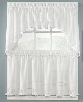 Chf Peri Pair Of Crochet 58 Tier Curtains Window Swags Simple Curtains