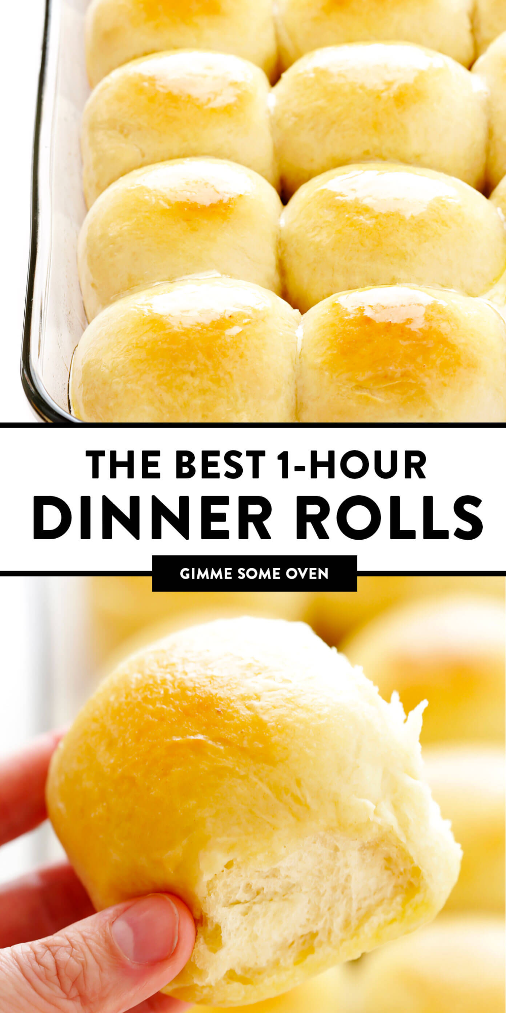 These 1Hour Dinner Rolls are simply the best Theyre easy to make perfectly soft and buttery and so comforting and delicious Perfect for the holidays or any delicious week...