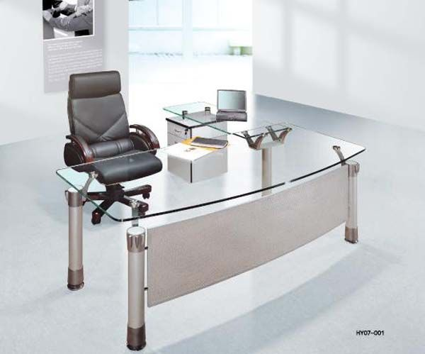 Modernglassdesk Office Furniture Design Modern Glass Top Desk Office Furniture Modern
