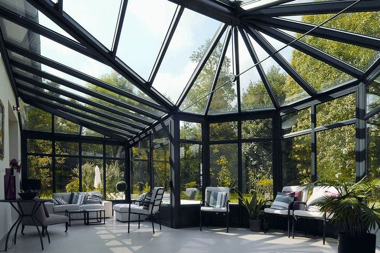 Une véranda design  20 belles vérandas pour agrandir votre maison - store exterieur veranda prix