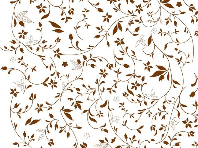 Brown Flowers Background Vintage Pattern Design Floral Pattern