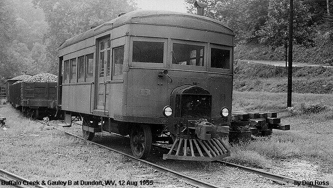 "Buffalo Creek & Gauley  ""B"" was built by Four Wheel Drive Auto Co in 1919."