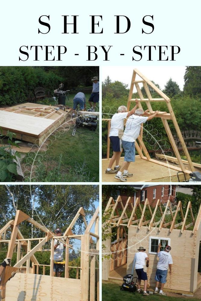 The Cutest DIY Garden Shed Ever  is part of Pallet patio furniture diy, Rustic patio furniture, Pallet patio furniture, Rustic outdoor decor, Pallet patio, Industrial design furniture - The Cutest DIY Garden Shed Ever Built your very own custom shed perfect for any garden  You can create the shed of your dreams  hometalk garden shed diy diysheds gardensheds buildit woodworking