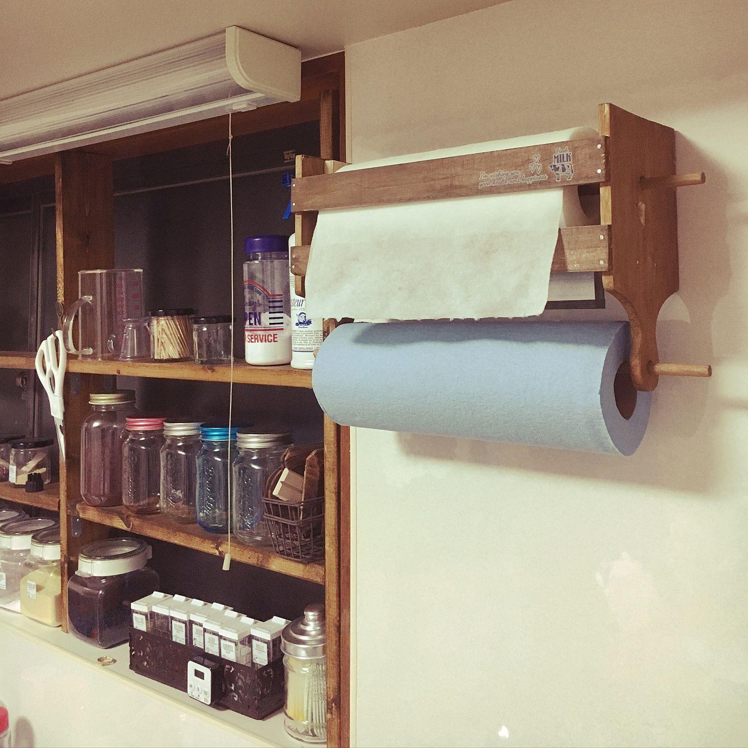 キッチン キッチンペーパーホルダー 自作 Ikea カッティングボード 100