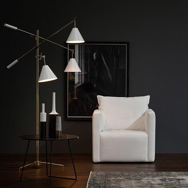 Pure Eleganz zeichnet dieses Wohnzimmer aus mit dem modernen Sessel