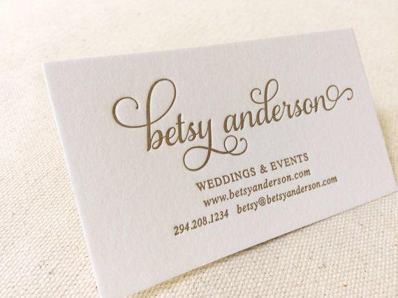 Letterpress Printed Business Cards Dinglewood Design Press Wedding Planner Logo Wedding Planner Business Card Wedding Planner Business