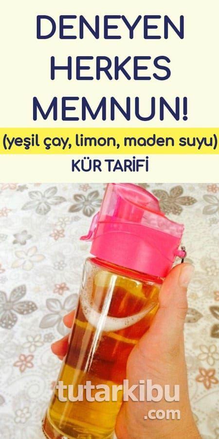 Yeşil Çay, Maden Suyu, Limon Kürü