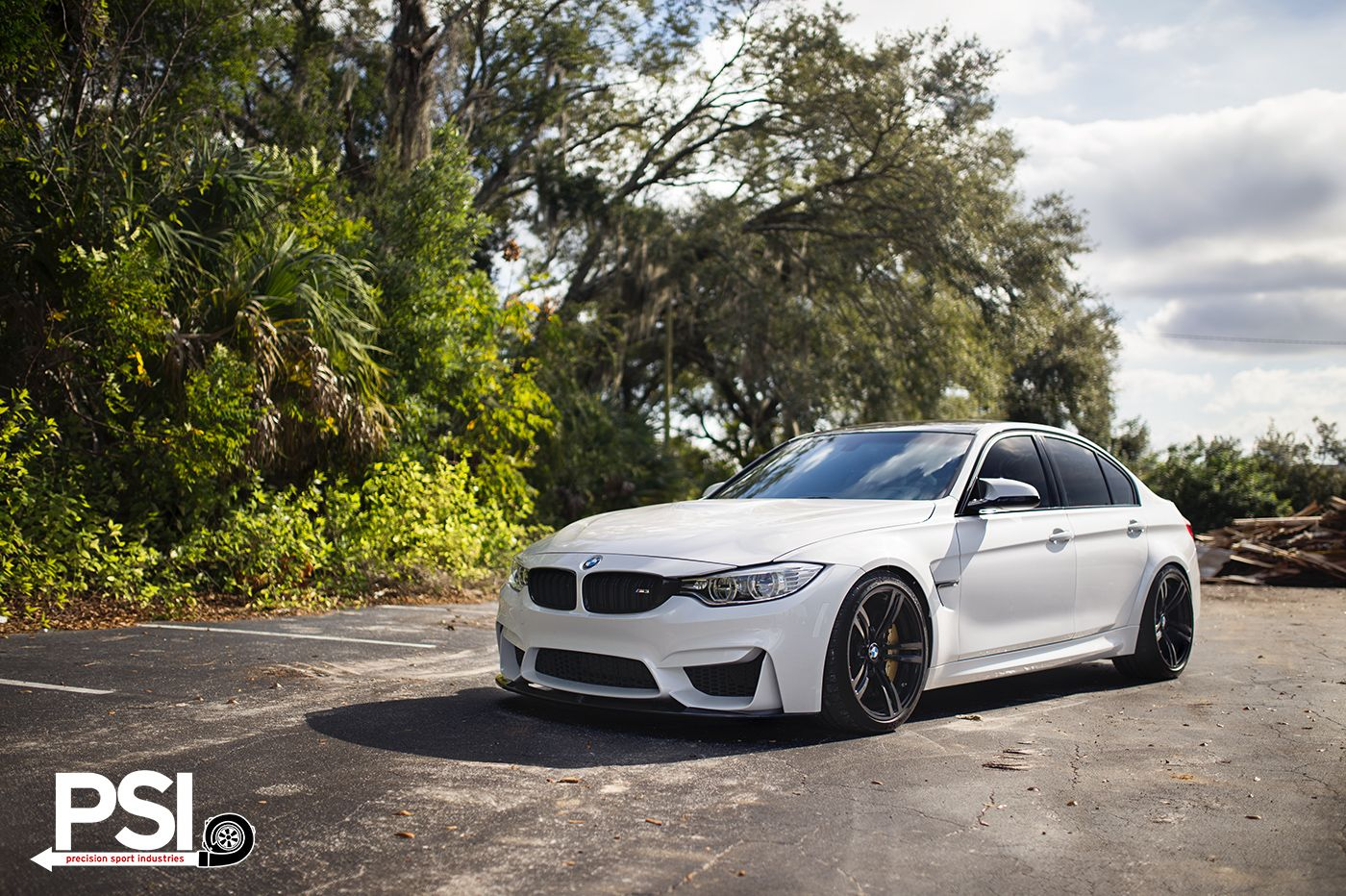 Alpine White Bmw F80 M3 With Vorsteiner Wheels And Aero By Baan Velgen - White paper matt s mw f80 m3