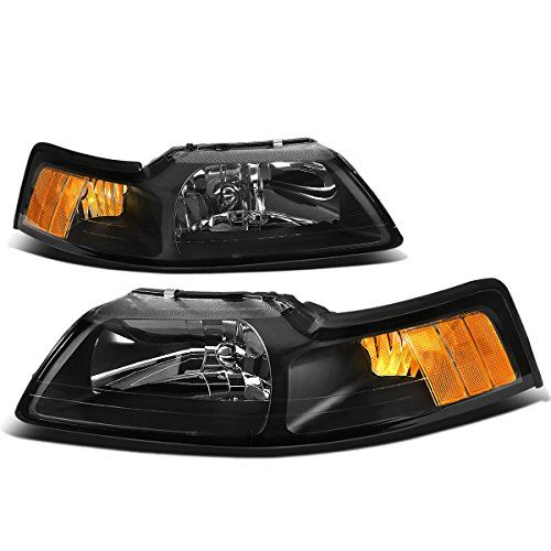 Ford Mustang New Edge Replacement Headlight Head Lamp Black Housing Headlight Assembly