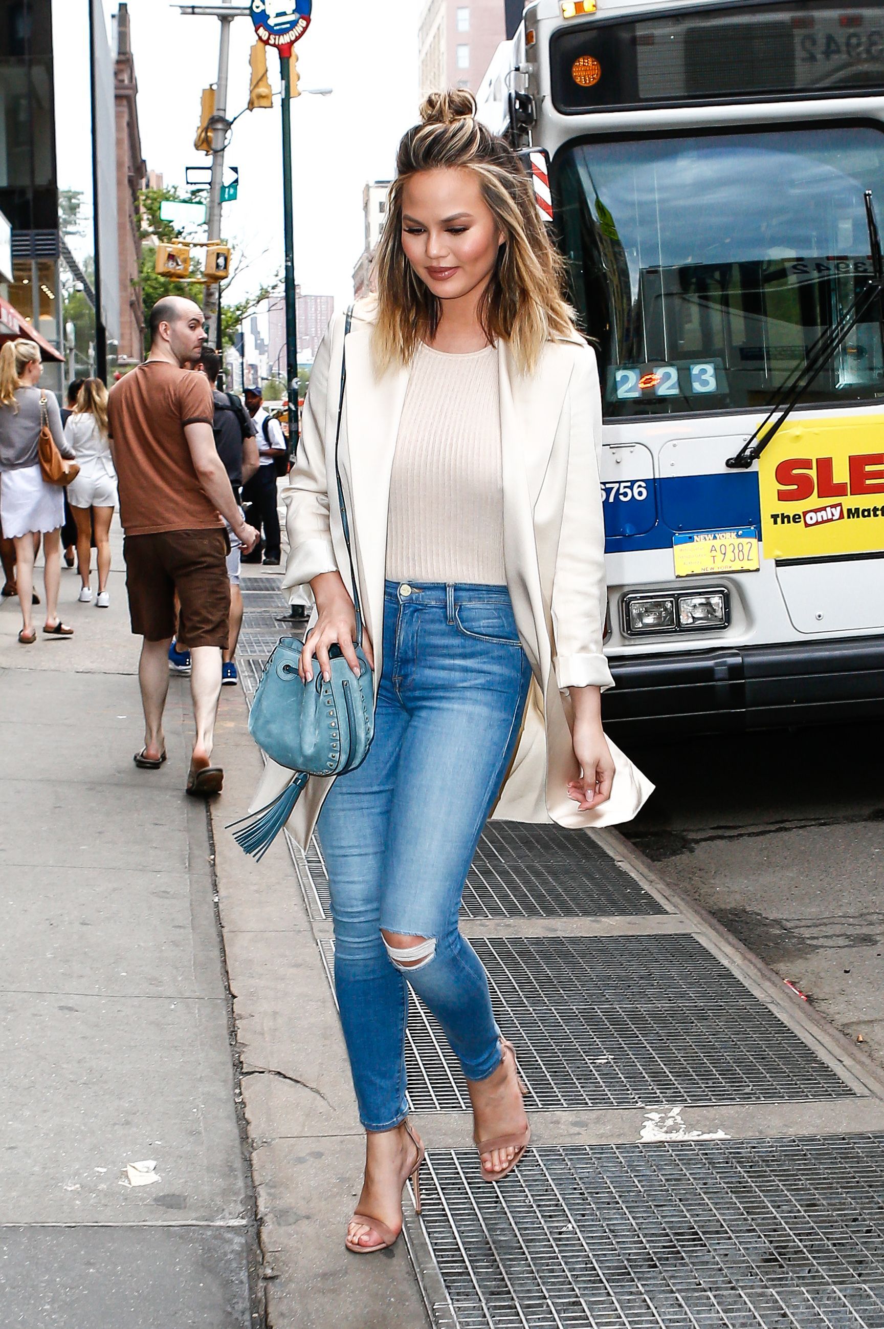 Chrissy Teigen out in NYC 6/7/16