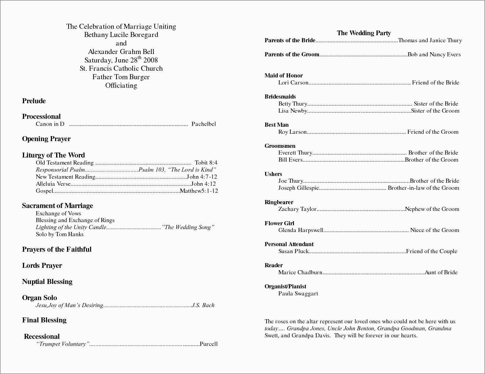 Free Church Program Template Microsoft Word You Will Never With Regard T In 2020 Catholic Wedding Program Wedding Ceremony Programs Template Printable Wedding Programs