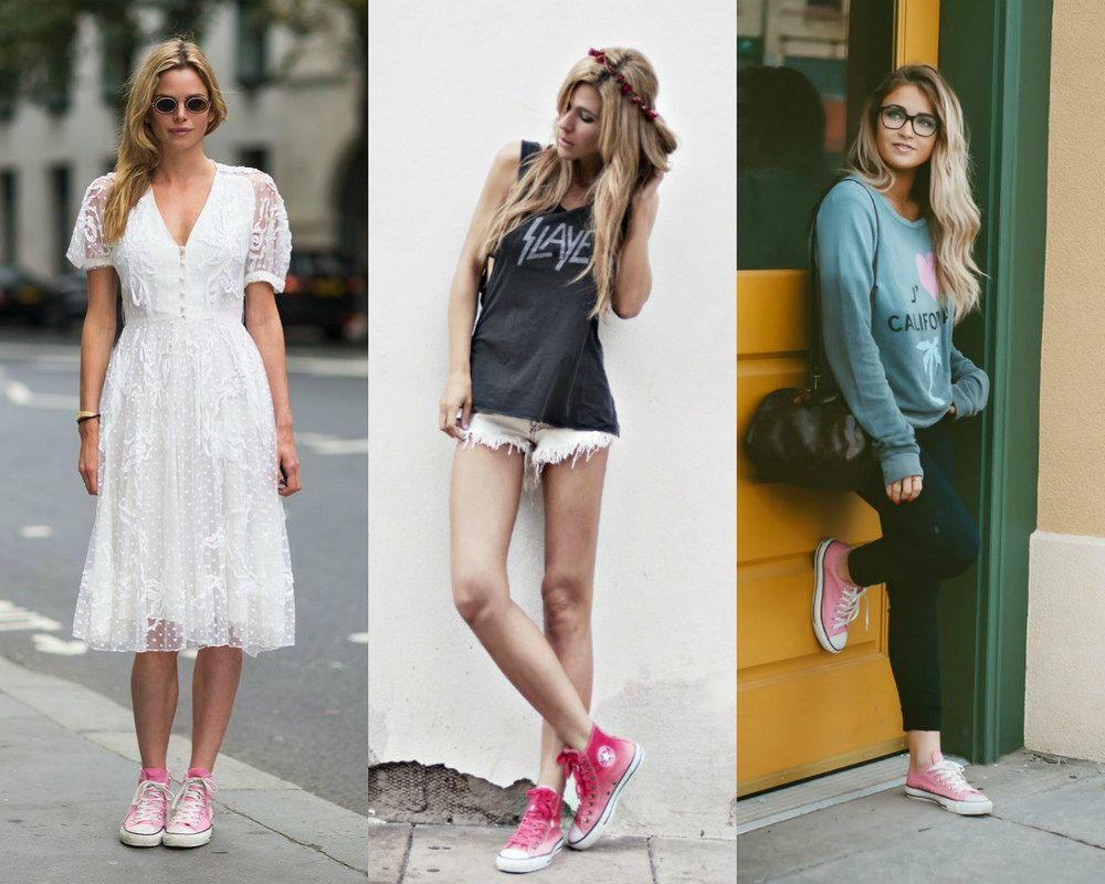 91e2a33b3e Como usar  All Star rosa - Moda it