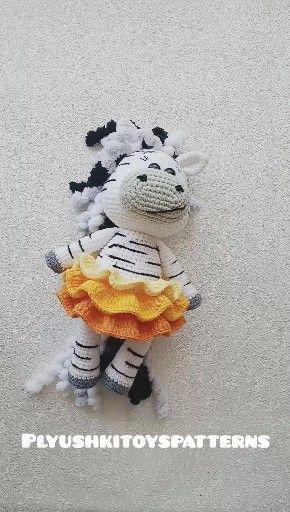Photo of Cute little zebra toy