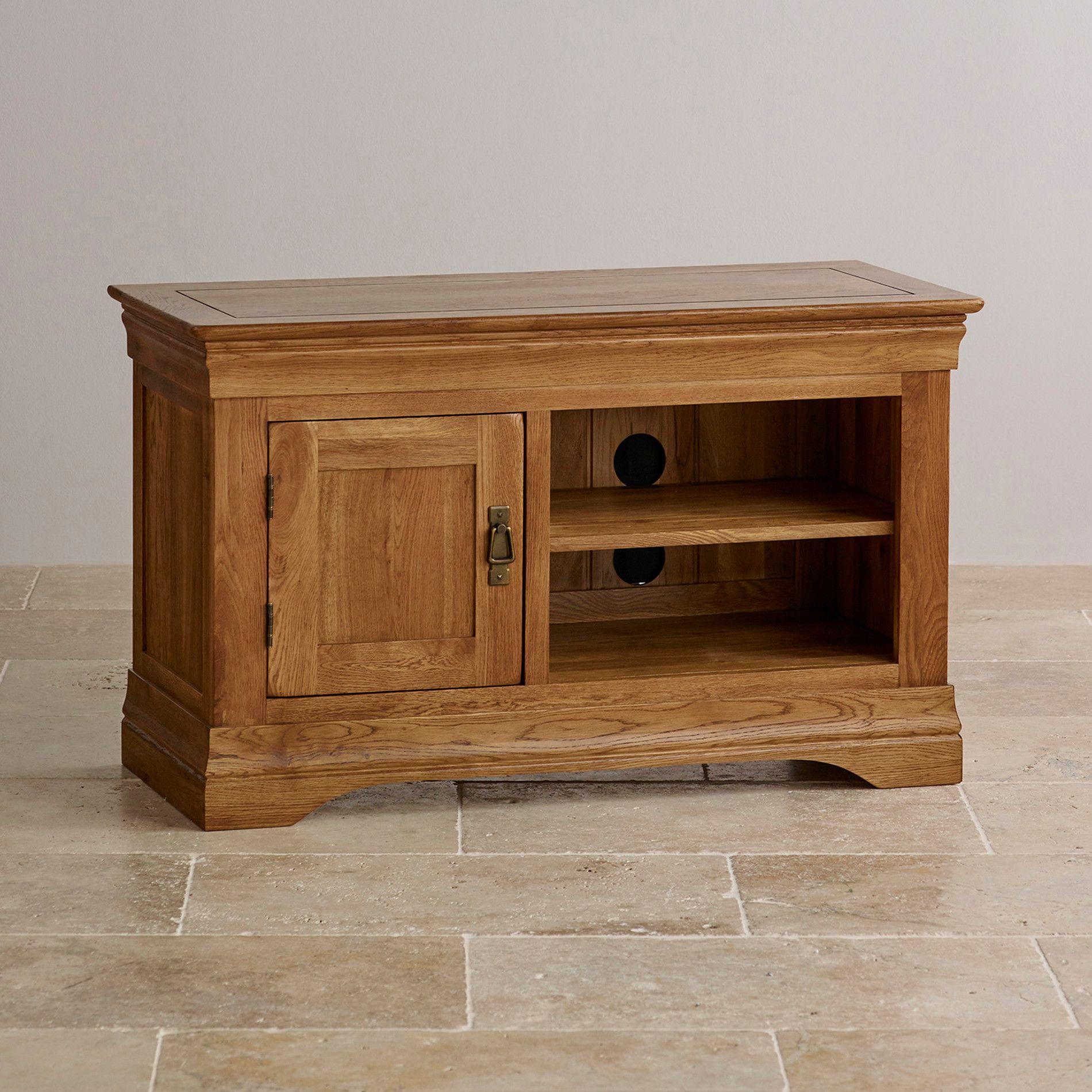 small tv units furniture. French Farmhouse Rustic Solid Oak Small TV Cabinet Tv Units Furniture