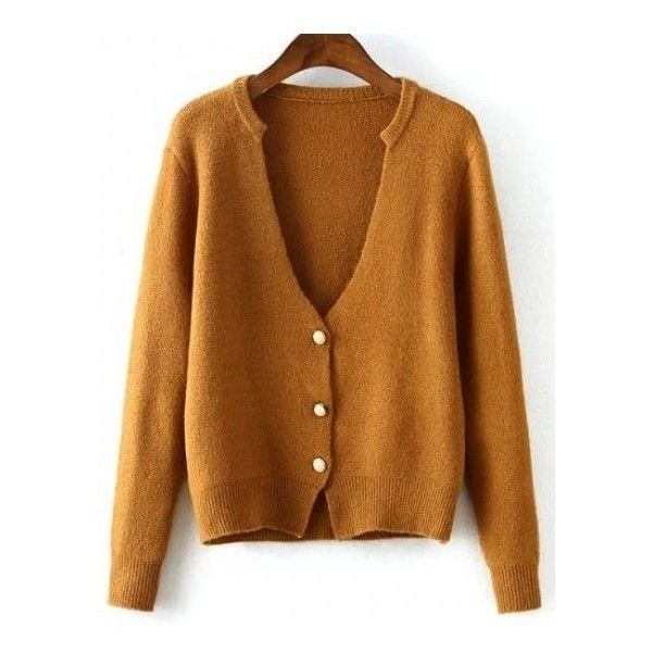 Red Grey Camel Brown Classic Knit Long Sleeves Cardigan ($27 ...