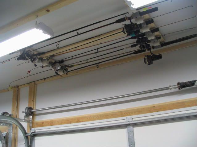 Attractive Fishing Pole Storage   The Garage Journal Board