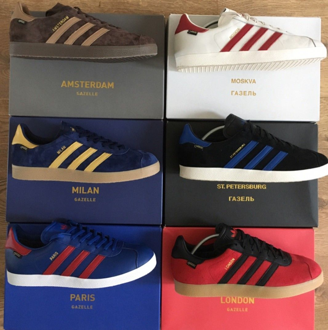 Neueste London Adidas Gazelle Gtx City Pack St. Petersburg