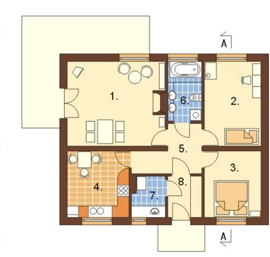 Imagenes de planos para casa de 72 metros cuadrados de un for Casa 2 plantas 160 metros cuadrados