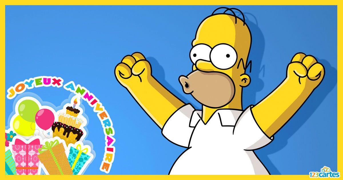 Carte Anniversaire Homer Simpson Homer Simpson Film Citation