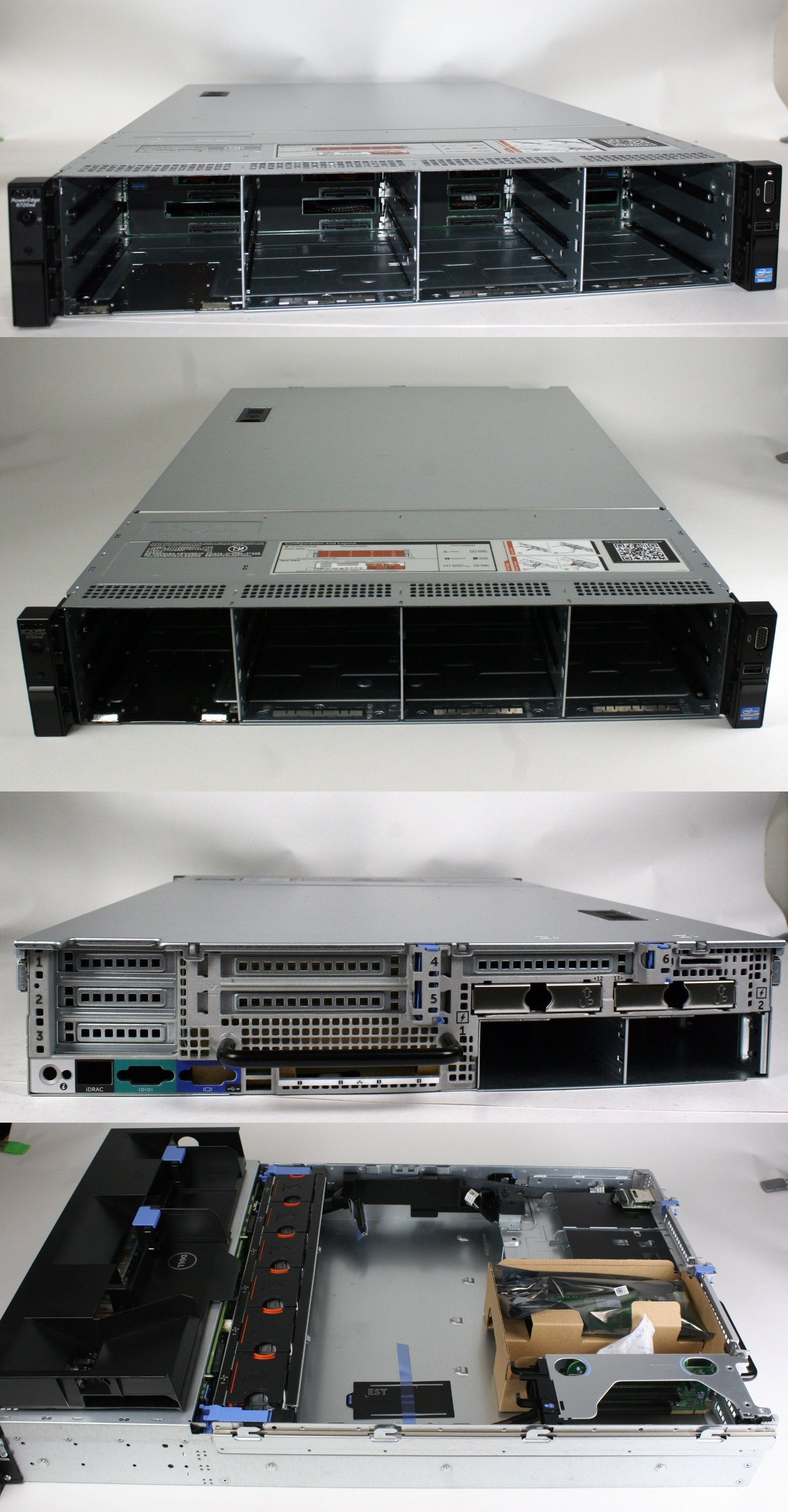 Other Ent Server Components 56092 New Dell Poweredge R720xd Lff 3 5 X 12 Case With Backplane Cables Fans And Risers Buy It Now Only 169 Cables Riser Ebay