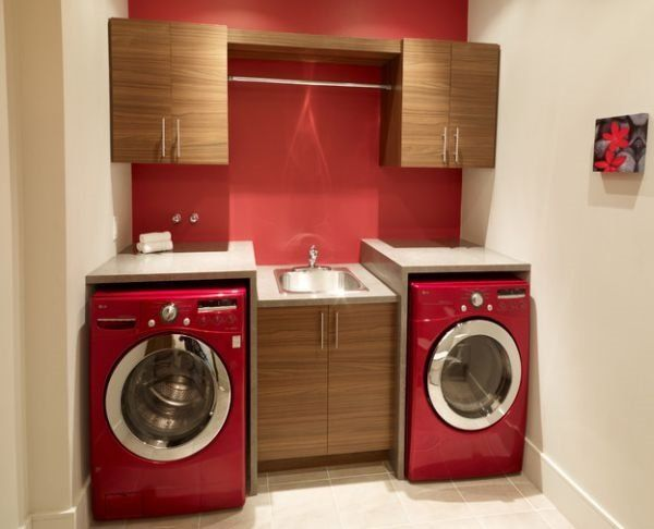 Small Laundry Room Cabinets Ideas Base Cabinet With Sink Red Washer Dryer  Raine U0026 Horne Approved #rhnewtown