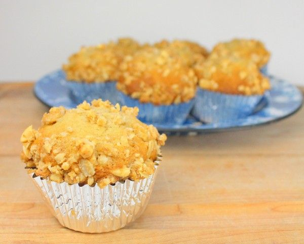 Peanut Butter Banana Nut Road Trip Muffins - Tip: Foil baking cups provide the ideal support in making and serving light and airy muffins. It also delivers the perfect portions for an on-the-go snack.