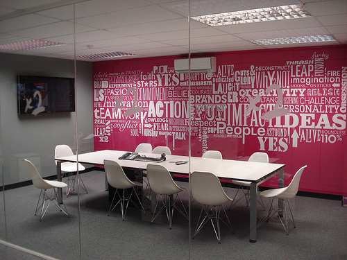 decoration salle de reunion | office | Pinterest | Mural wall ...