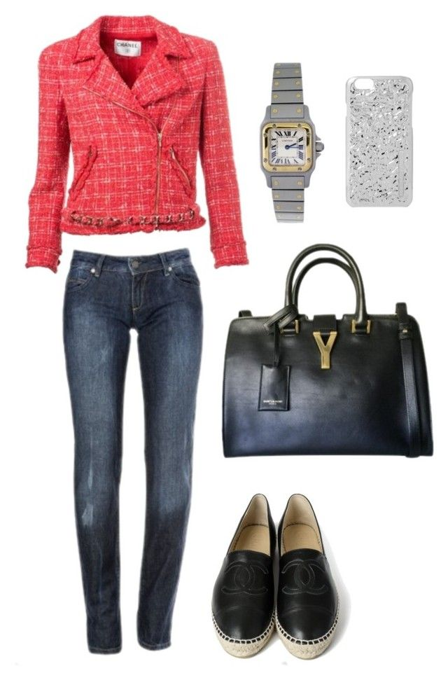 """""""Casual Friday"""" by luxurylove-ch ❤ liked on Polyvore featuring Calvin Klein, Chanel, Yves Saint Laurent and Marc by Marc Jacobs"""