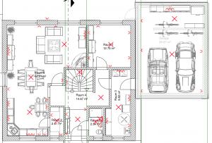 knx kosten anhand eines beispiels licht und steckdosen geplant im erdgeschoss knx in 2018. Black Bedroom Furniture Sets. Home Design Ideas