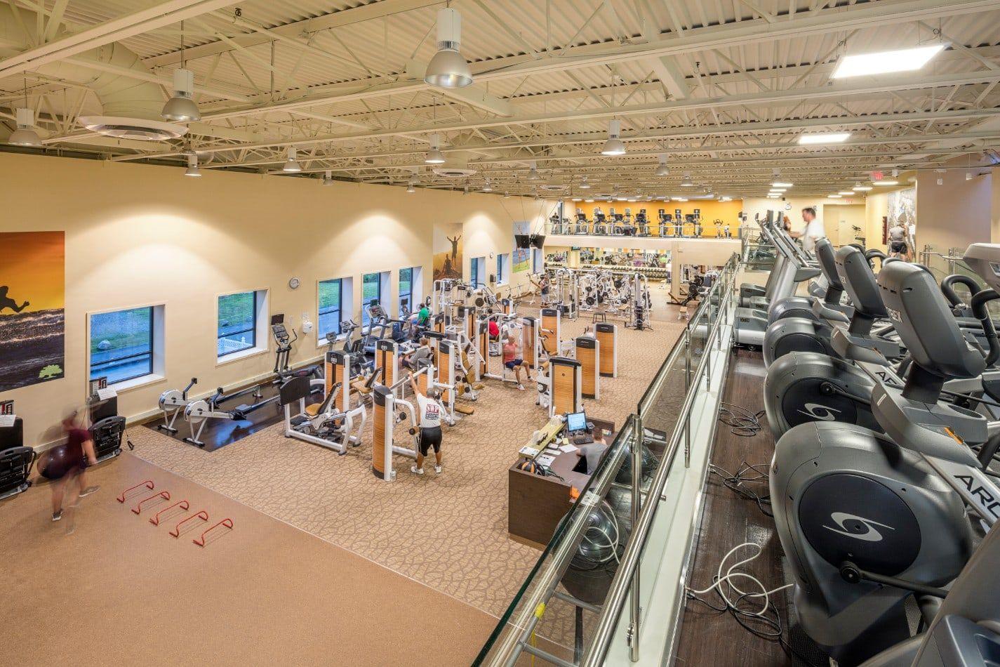 Cardio Area Floor Workouts Wellness Design Gym Design