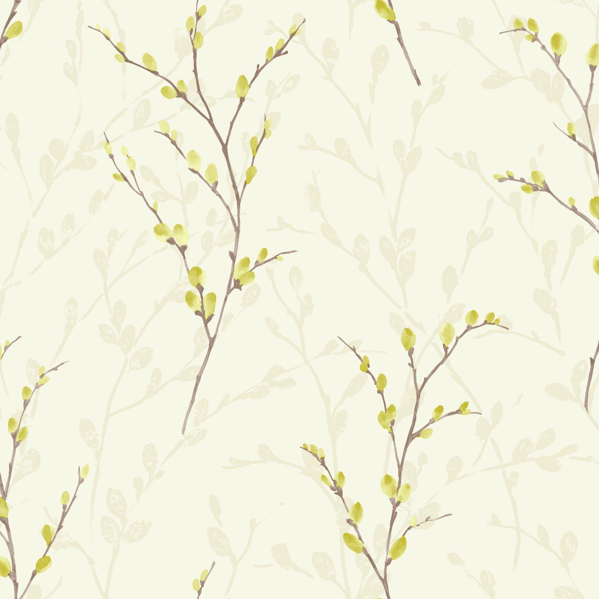 Home diy wallpaper illustration arthouse imagine fern plum motif vinyl - Arthouse Eco Willow Green Wallpaper Departments Diy At B Q