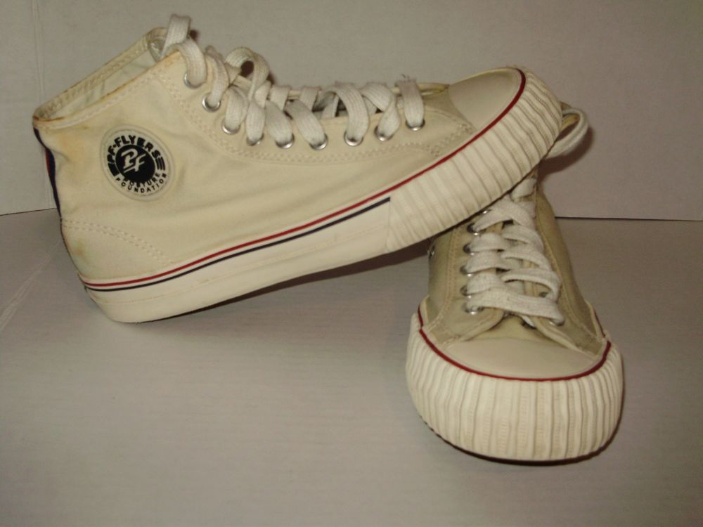 8434529b8 PF Flyers Posture Foundation Womens High Top Sneakers Size 9.5 White A13  #PFFlyers #BasketballShoes