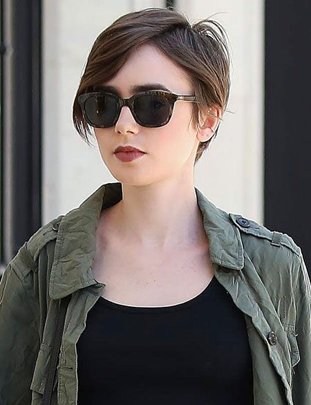 23 Lily Collins Short Hair