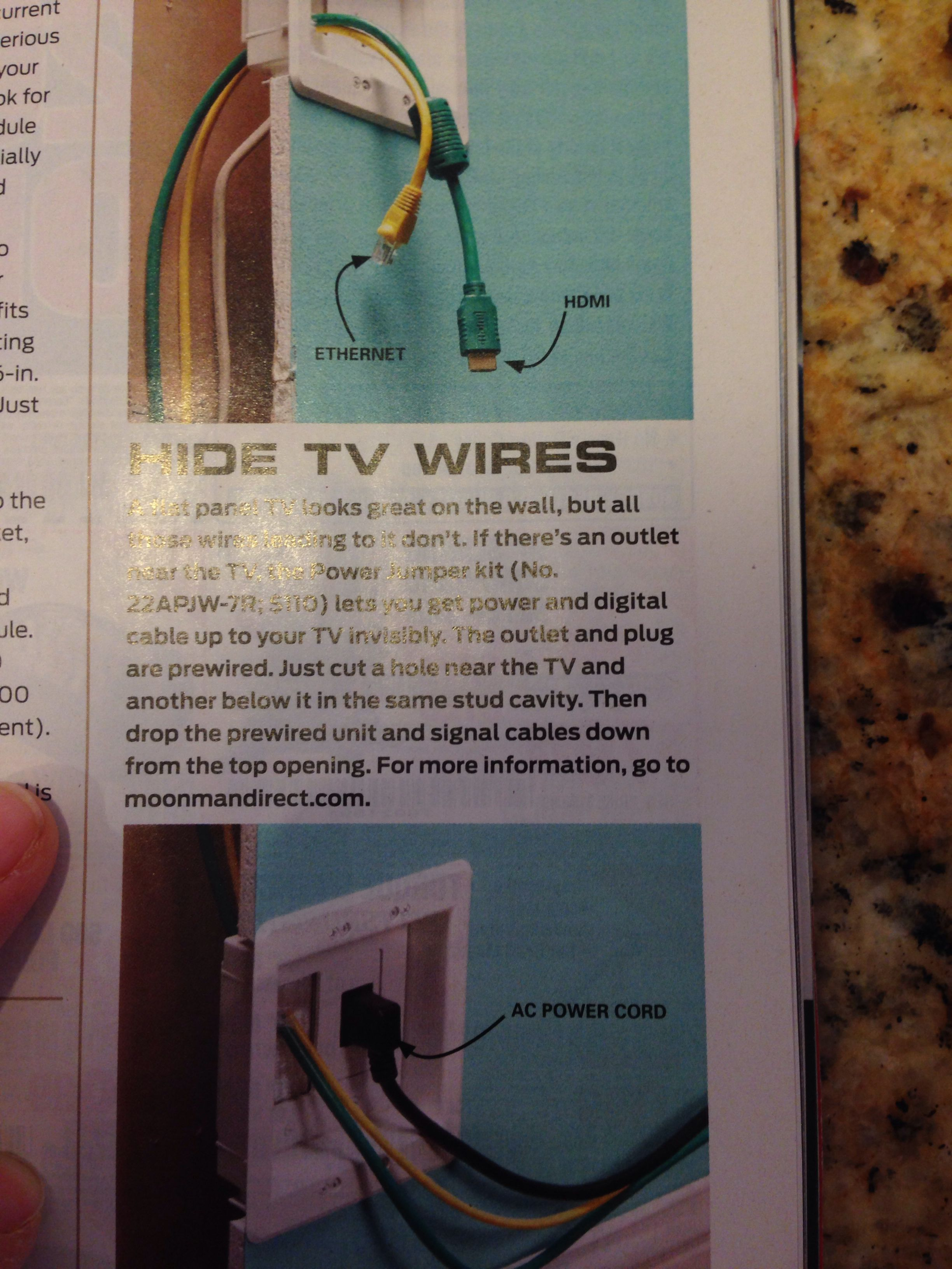 Hide Tv Wires Moonmandirectcom House Ideas Pinterest How To Wiring For Wall Mounted