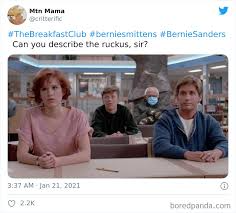 40 Of The Funniest Memes People Created After Bernie Sanders Was Captured Sitting Alone During Inauguration Bored Panda In 2021 Funny Memes Memes Michelle Obama