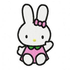 Hello Kitty Bunny machine embroidery design