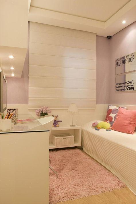 Como decorar um quarto pequeno feminino sem erro for - Decorar despacho pequeno ...